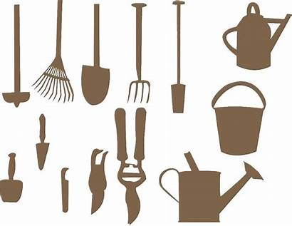 Tools Garden Silhouette Vector Clipart Gardening Tool
