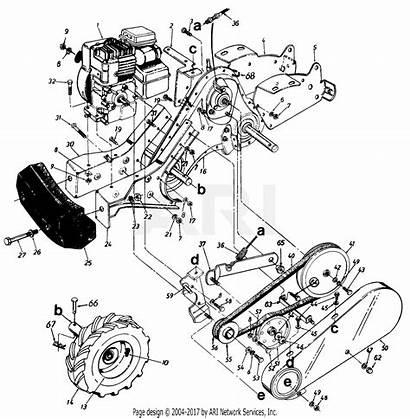 Mtd Tiller Tine Parts Diagram Rear 1995