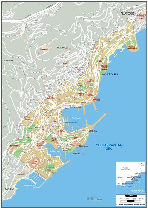 Maps Of Monaco  Detailed Map Of Monaco In English