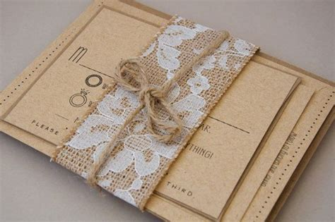 rustic burlap lace twine for invitations by