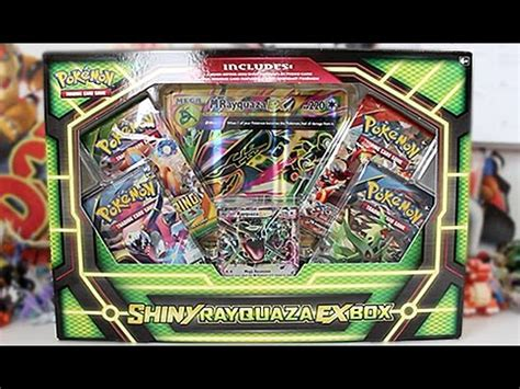 opening a pokemon shiny rayquaza ex box youtube