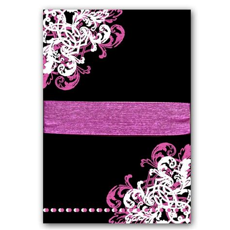 ornamental corner pattern gatefold  birthday