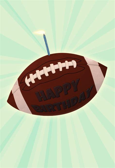 football   candle birthday card  island
