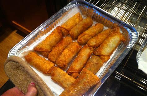 egg rolls fried deep chinese pork oven