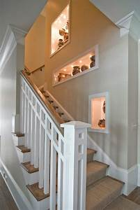 Decorating wall niche ideas staircase traditional with