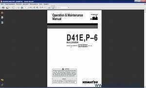 Komatsu Bulldozers D41e P