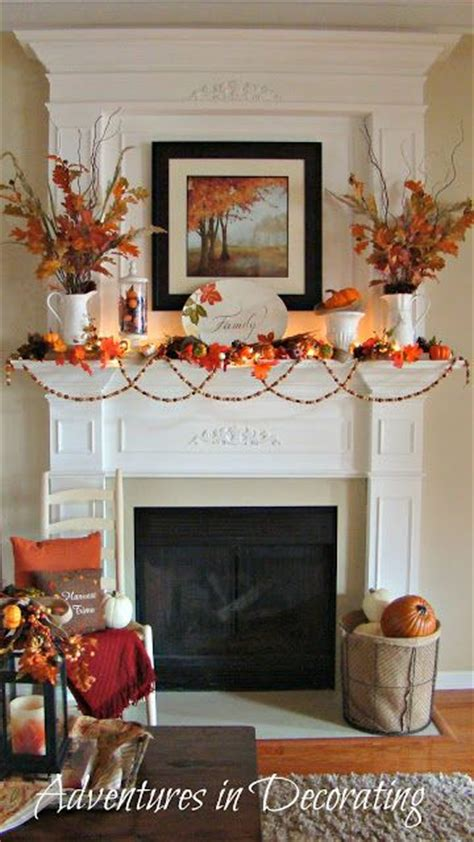 Adventures In Decorating Mantel by Pretty Fall Mantle From Adventures In Decorating