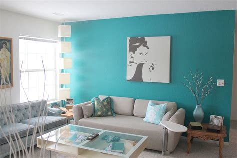 Living Room Color Schemes With Turquoise by 36 Turquoise Walls Living Room Turquoise Accent Wall