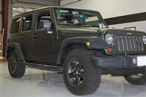 matte black jeep matte black jeep wrap fort worth zilla wraps