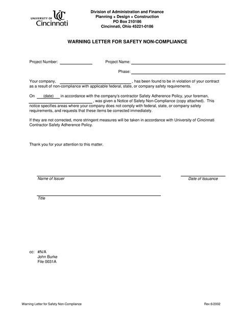 Hoa Violation Letter Template