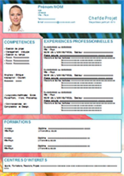 Matrice Cv Word by Matrice De Cv Modele Cv Informatique Word Jaoloron