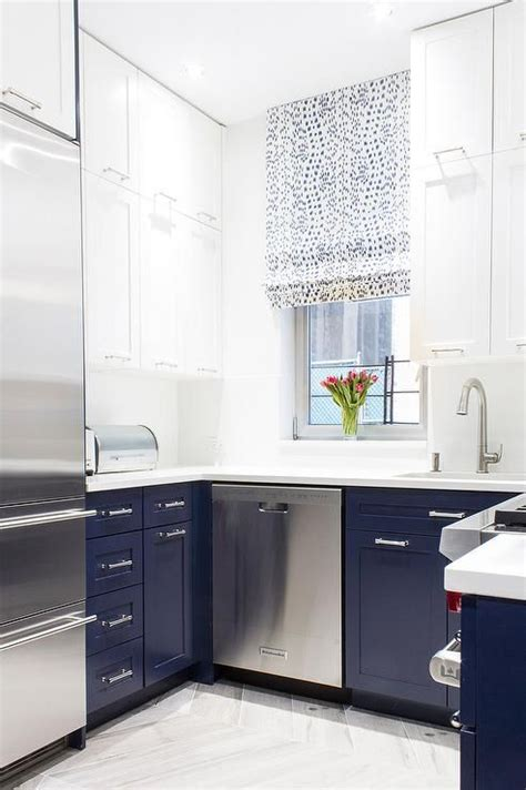 white lower kitchen cabinets white and blue kitchen features white cabinets and