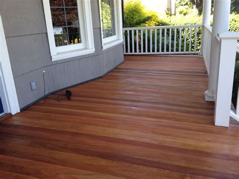 mesmers natural hardwood stain mahogany porch floor