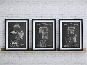 bathroom art patent posters group of 3 bathroom wall decor With artwork for bathroom walls