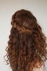 Curly Hair Tutorial The Half Up Braid Hairstyle Hair