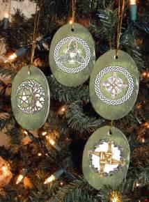 set of four magical symbols yule winter by mickiemuellerstudio