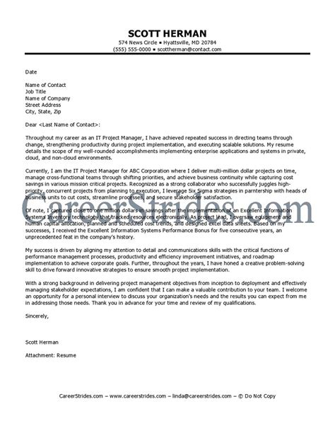 Cover Letter For Management Position by Exle Covering Letter For Management
