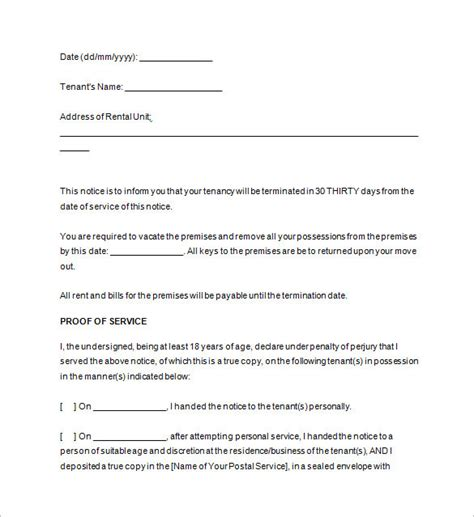free oregon 60 day notice to vacate form 30 day notice to vacate template templates resume