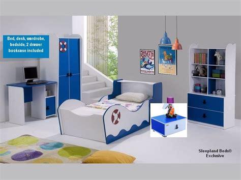 Boy Bedroom Furniture Sets by Boys Sailor Boat Bed And Blue Bedroom Furniture Set