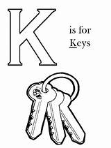 Coloring Key Pages Sheets Alphabet Printable Keyboard Letter Lock Calligraphy Skeleton Drawing Trombone Clipart Getcolorings Adult Clip Different Week Computer sketch template