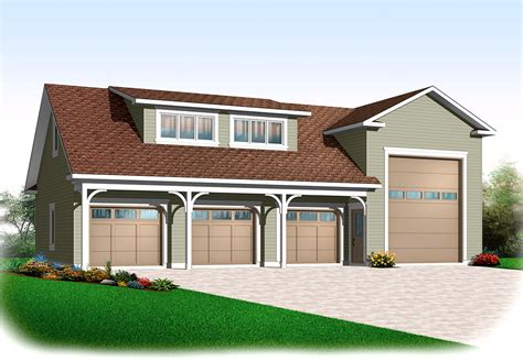 Garage Design Plans by 4 Car Rv Garage 21926dr Architectural Designs House