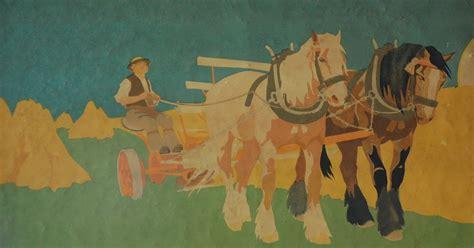 century bungalow  painted frieze  british illustrator