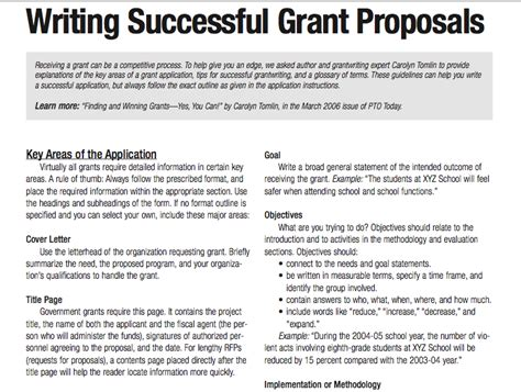 tips for writing successful grant proposals 3 pages
