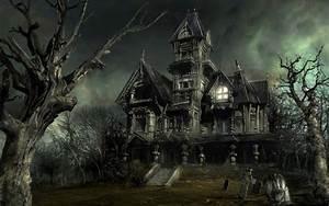 Haunted House - Halloween Wallpaper (16050692) - Fanpop