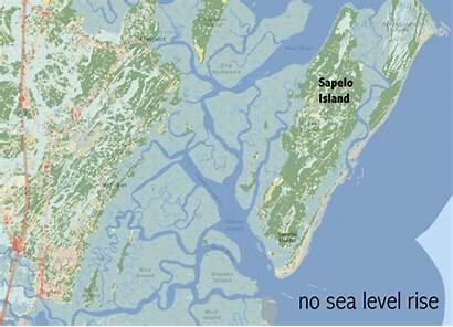 Island Sea Georgia Sapelo Level Climate Rise