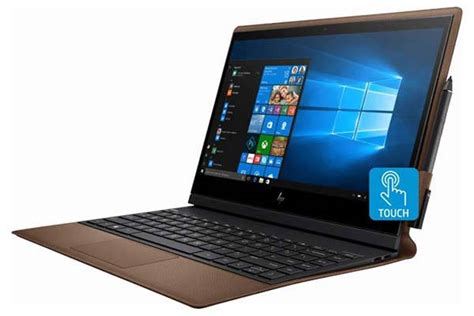 hp spectre folio    touchscreen laptop  leather