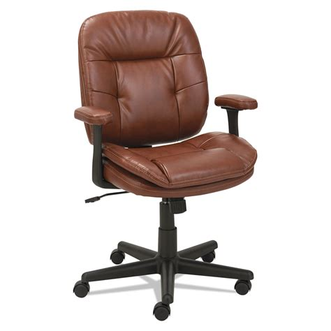 swivel tilt leather task chair by oif oifst4859