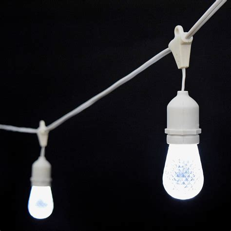 cool white led commercial string lights 21 white cord
