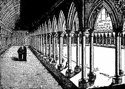 Monastery Cloister French Gothic Architecture Medieval Ages