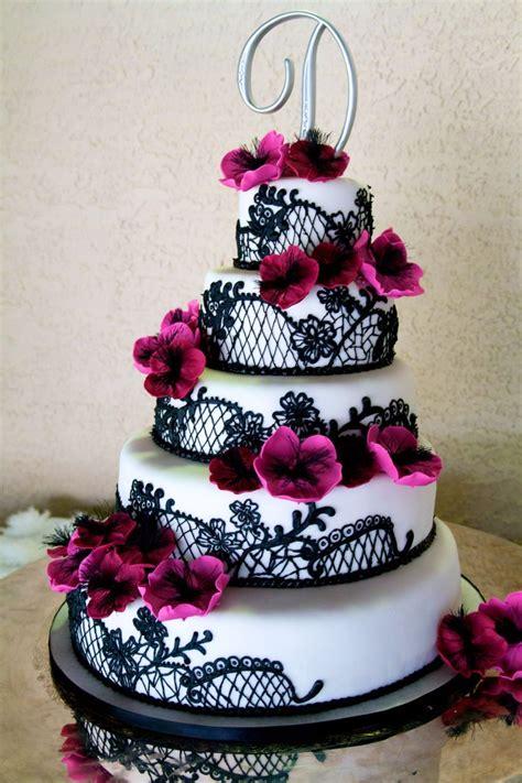 Black Wedding Cakes With Flowers | ogvinudskillelse.website