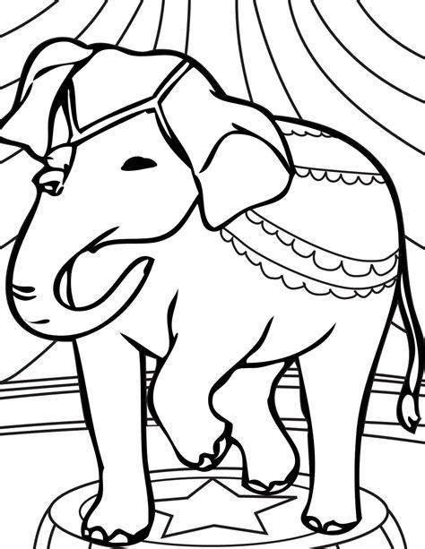 circus elephant coloring pages clipart panda