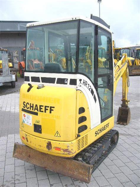 schaeff mini excavator hr     sale