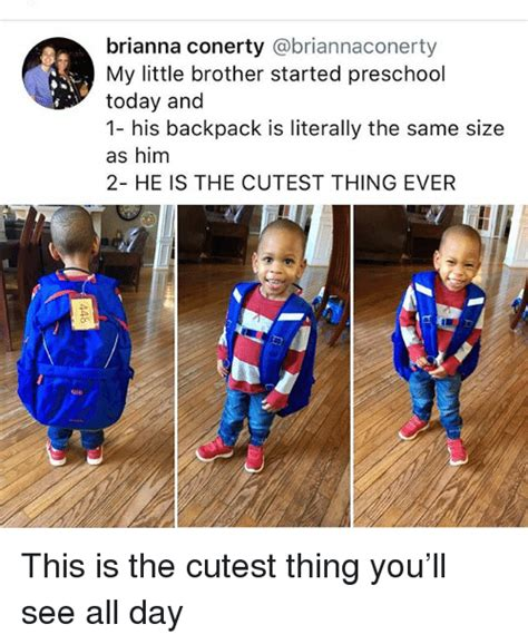 25 best memes about preschool preschool memes 643 | brianna conerty briannaconerty my little brother started preschool today and 31249933