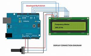 Frequency Meter Circuit Using Arduino And 16x2 Display