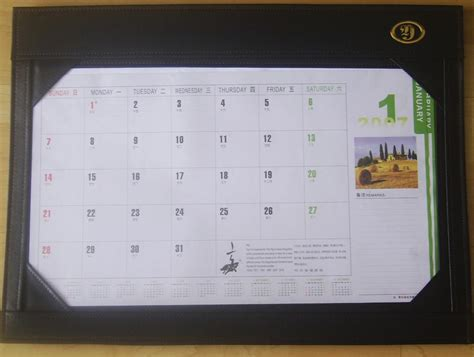 desk writing mat calendar blotter table planner china