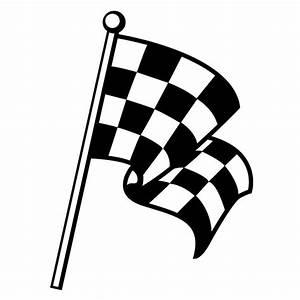 Zielflagge Checkered Flag Wandtattoo