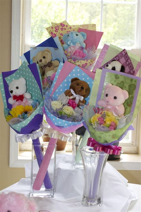 style  bear flower bouquet   occasion