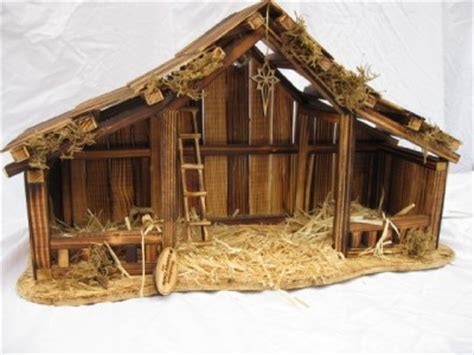 woodtopia nativity stable large willow tree ebay