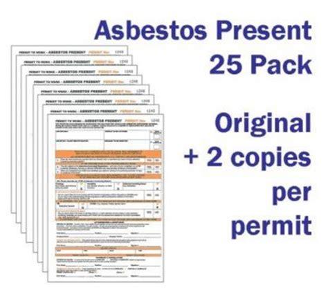 asbestos removal permits duplicating work permits ssp