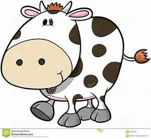 Cute Cow Vector Royalty Free Stock Images - Image: 4033859