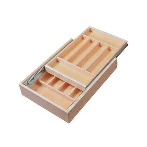 two tier kitchen drawer organizer century components tier silverware drawer 14 1 2 8609