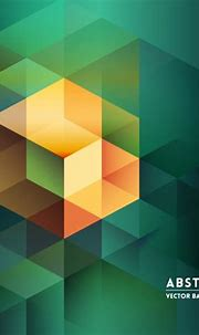 Green background with several yellow cubes Vector | Free ...