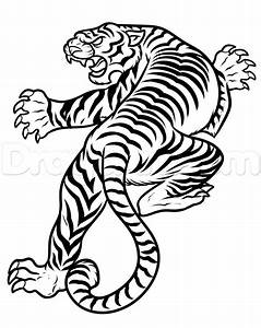 How to Draw a Japanese Tiger Tattoo, Step by Step, Tattoos ...