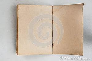 Blank Of Old Book Open Back Side Stock Photo - Image: 39040807