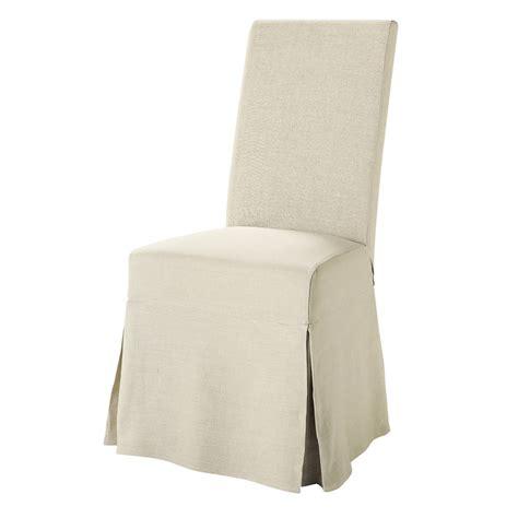 housse chaise maison du monde housse longue de chaise en margaux maisons du monde