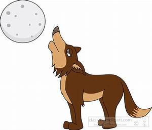 Wolf Clipart : howling-coyote-clipart-7214 : Classroom Clipart